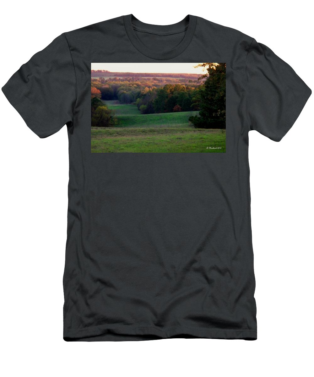 Landscape Men's T-Shirt (Athletic Fit) featuring the photograph Rolling Meadow by Betty Northcutt
