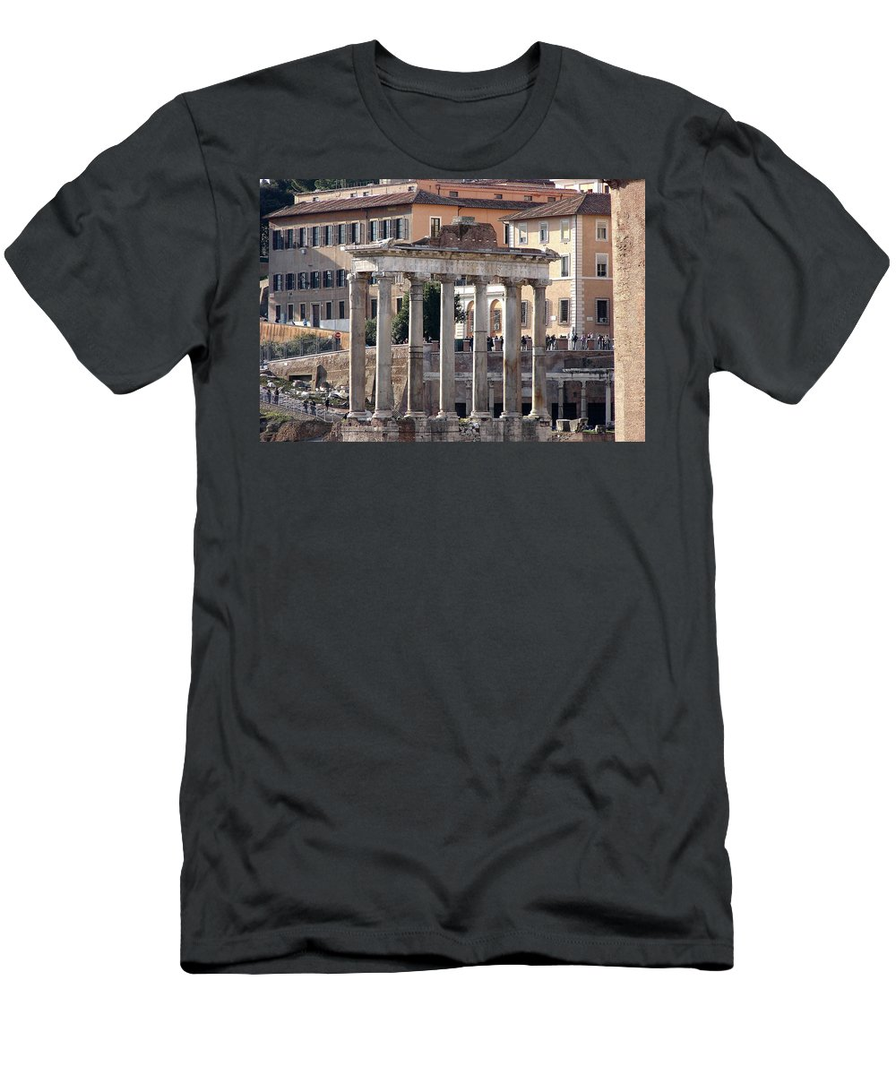 Rome Men's T-Shirt (Athletic Fit) featuring the photograph Roman Columns by Brett Winn
