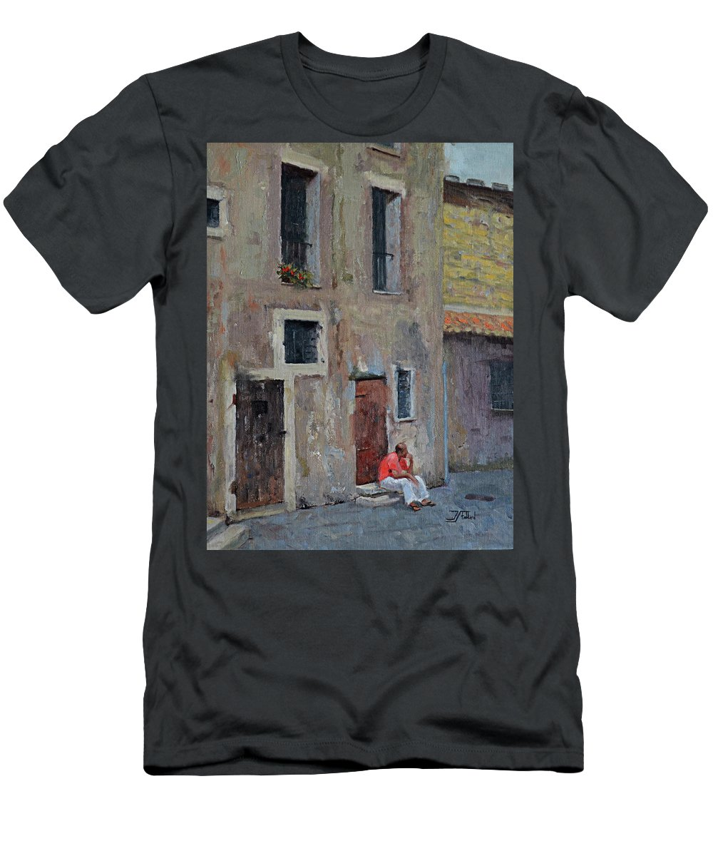 Oil Painting T-Shirt featuring the painting Rome by Jan Christiansen