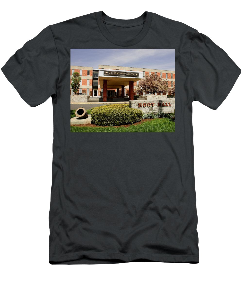 Root Hall Men's T-Shirt (Athletic Fit) featuring the photograph Root Hall 2 by Jean Macaluso