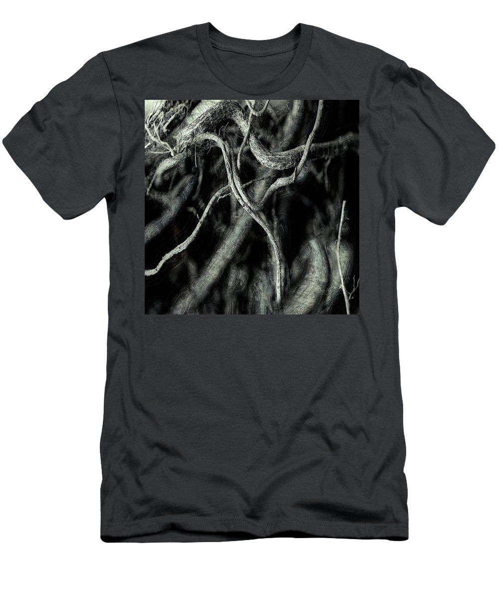 Root Men's T-Shirt (Athletic Fit) featuring the photograph Roots Series #1 by  DonaRose