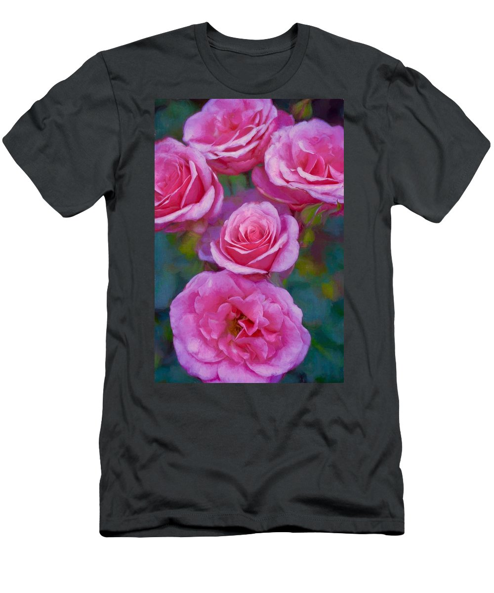 Floral Men's T-Shirt (Athletic Fit) featuring the photograph Rose 344 by Pamela Cooper