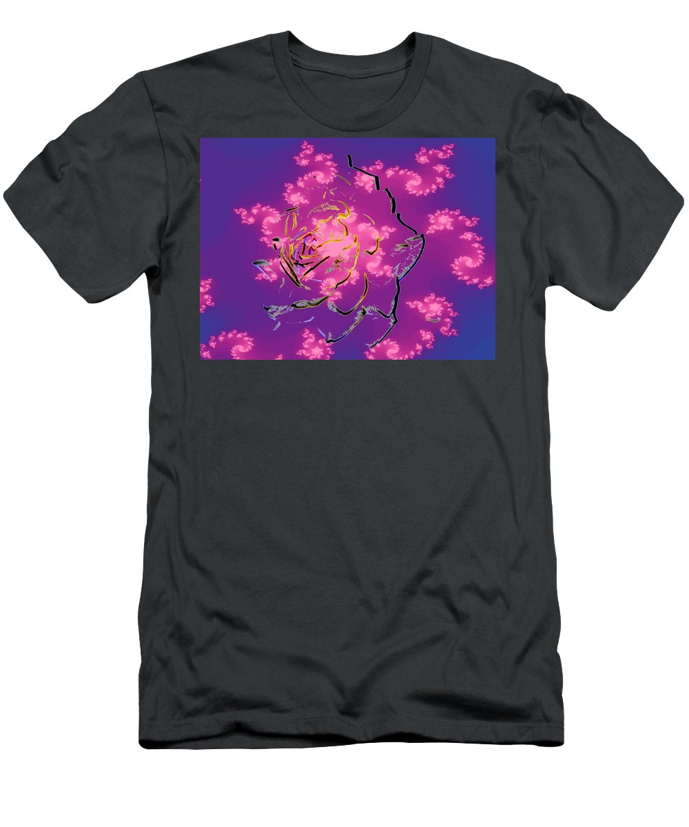 Rose Men's T-Shirt (Athletic Fit) featuring the digital art Rose by Tim Allen