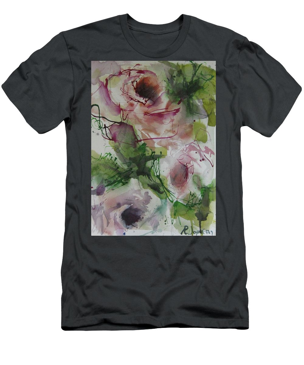 Rose Men's T-Shirt (Athletic Fit) featuring the painting Rosebuds by Robert Joyner