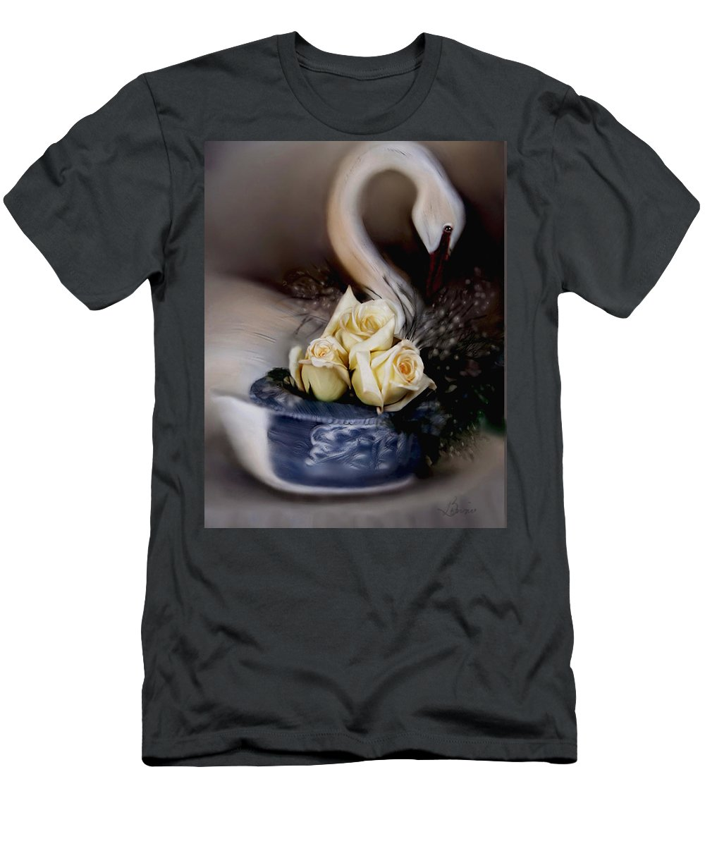 Roses Men's T-Shirt (Athletic Fit) featuring the painting roses for Susan by Bonnie Willis