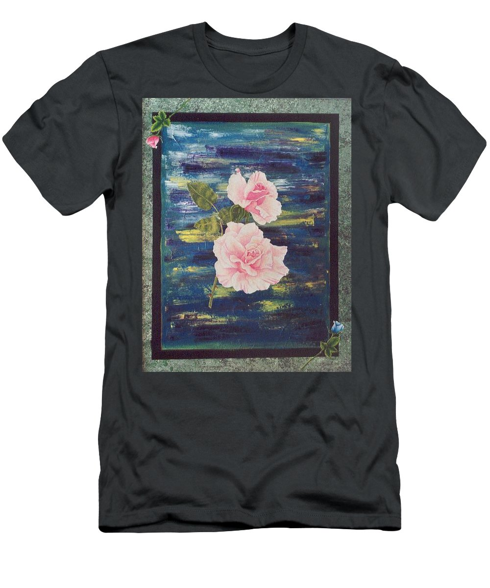 Rose Men's T-Shirt (Athletic Fit) featuring the painting Roses by Micah Guenther