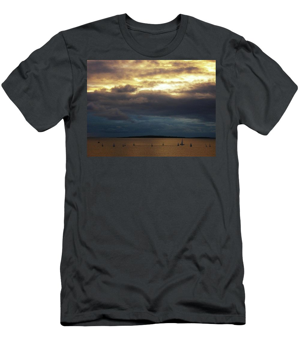 Seascape Men's T-Shirt (Athletic Fit) featuring the photograph Rosses Point Co Sligo Ireland by Louise Macarthur Art and Photography