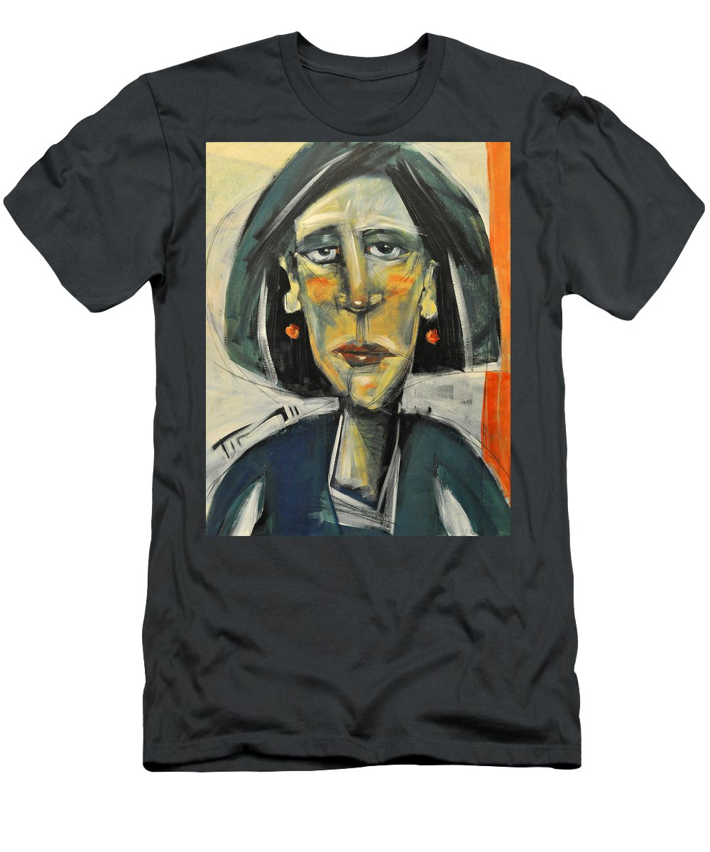 Woman Men's T-Shirt (Athletic Fit) featuring the painting Rough Day Don't Ask by Tim Nyberg