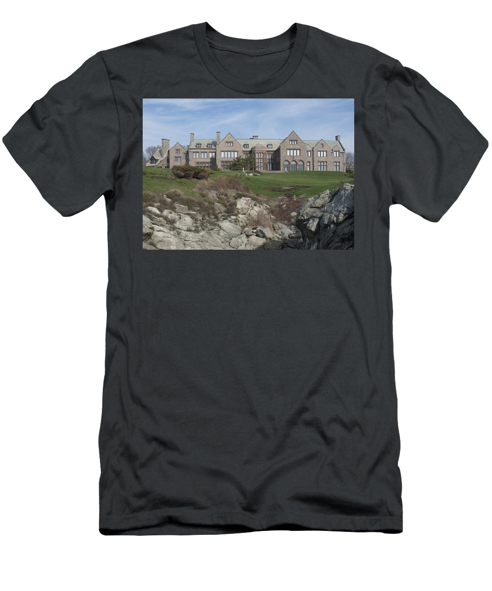Mansions Men's T-Shirt (Athletic Fit) featuring the photograph Rough Point by Steven Natanson