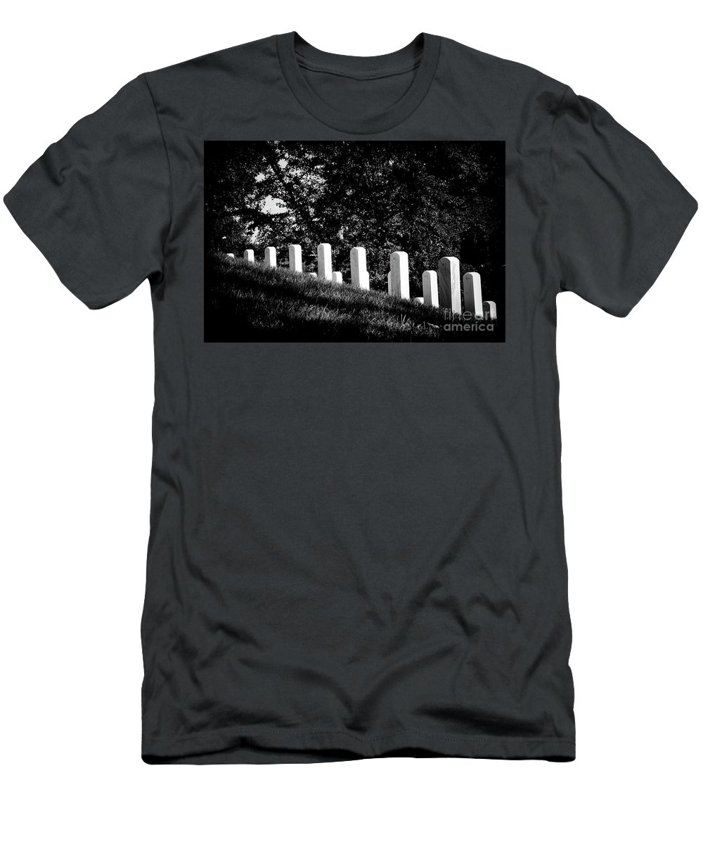 Arlington National Cemetery Men's T-Shirt (Athletic Fit) featuring the photograph Rows Of Honor by Paul W Faust - Impressions of Light