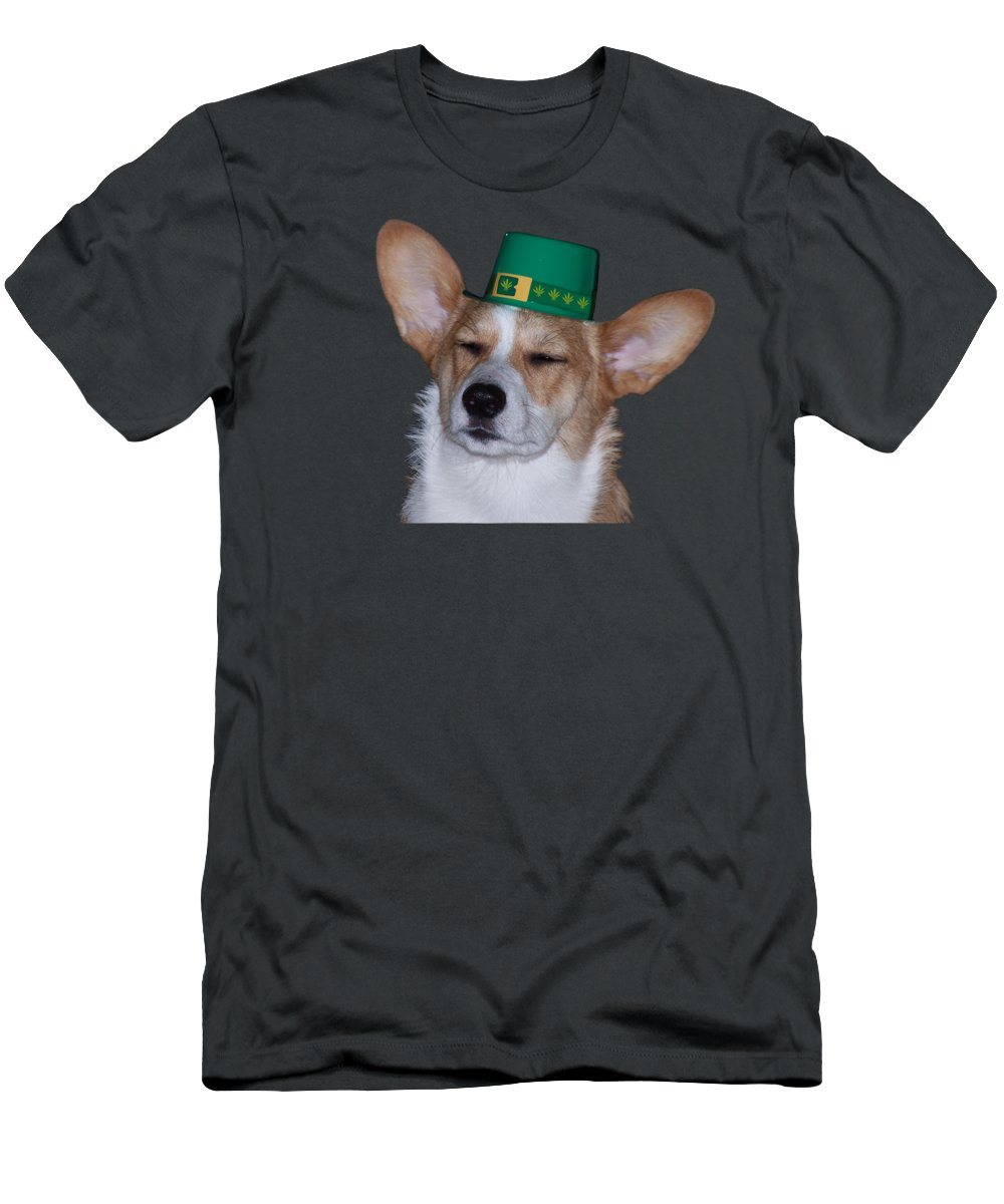 Dog Men's T-Shirt (Athletic Fit) featuring the photograph Roxie Cpp by Reefer Clippings