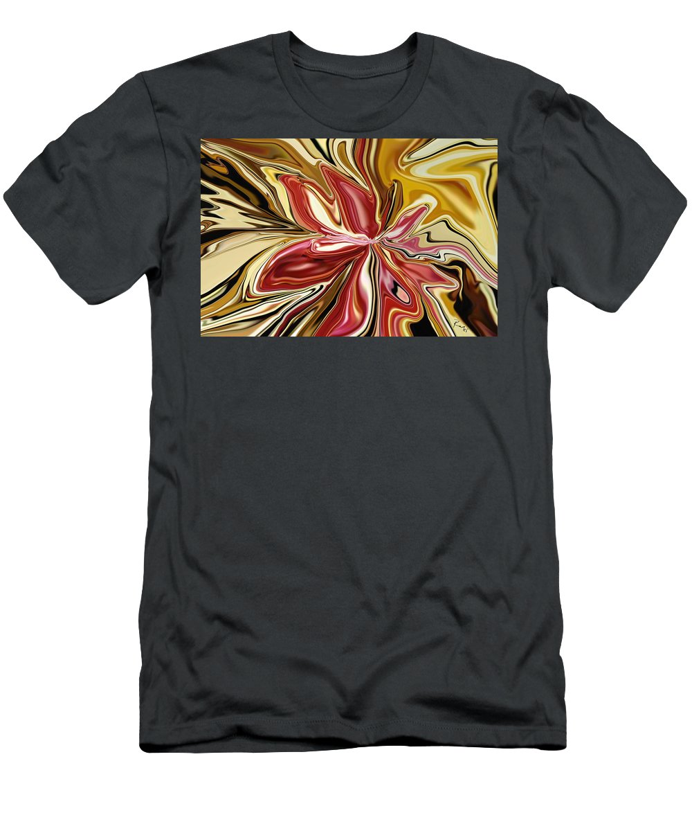 Botanical Men's T-Shirt (Athletic Fit) featuring the digital art Royal Orchid by Rabi Khan