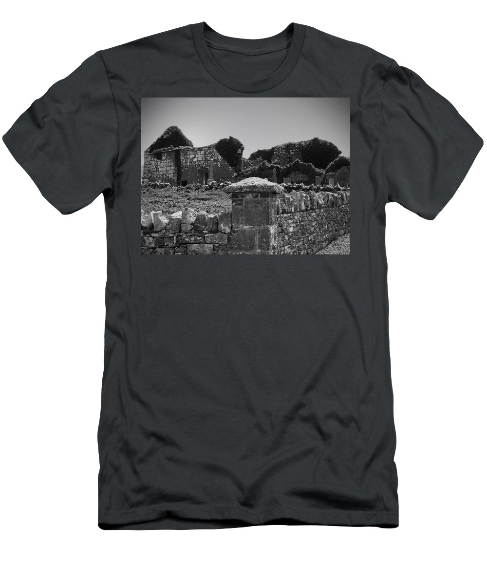 Irish Men's T-Shirt (Athletic Fit) featuring the photograph Ruins In The Burren County Clare Ireland by Teresa Mucha