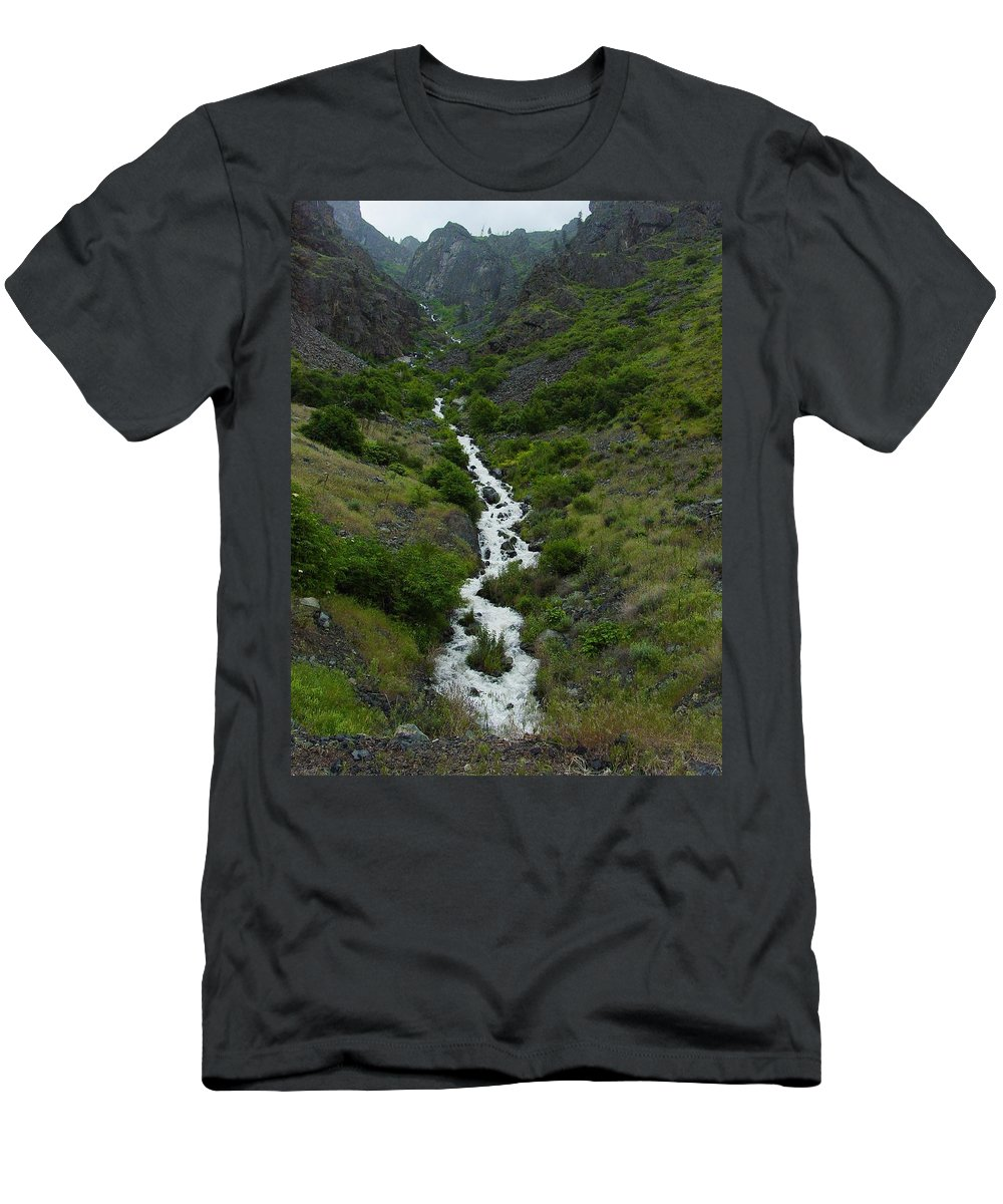 Spring Men's T-Shirt (Athletic Fit) featuring the photograph Run Off by Sara Stevenson