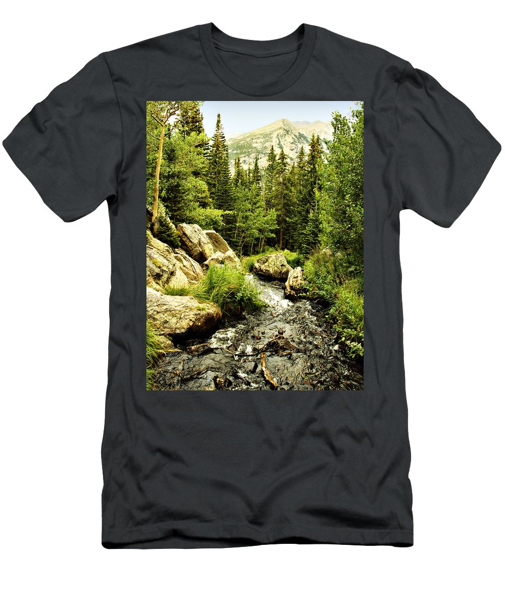 Colorado Men's T-Shirt (Athletic Fit) featuring the photograph Running River by Marilyn Hunt