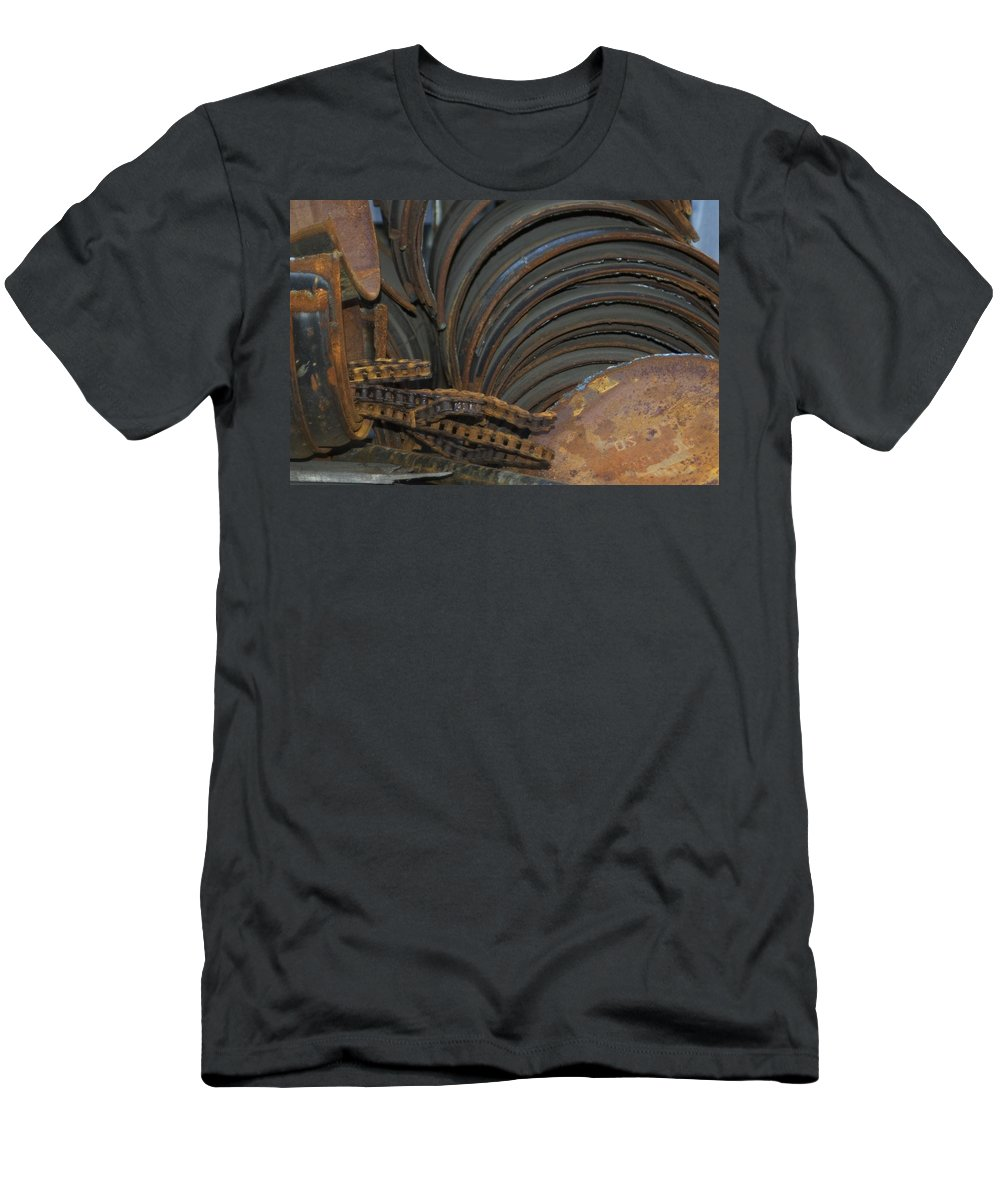 Rust Men's T-Shirt (Athletic Fit) featuring the photograph Rust by Sara Stevenson