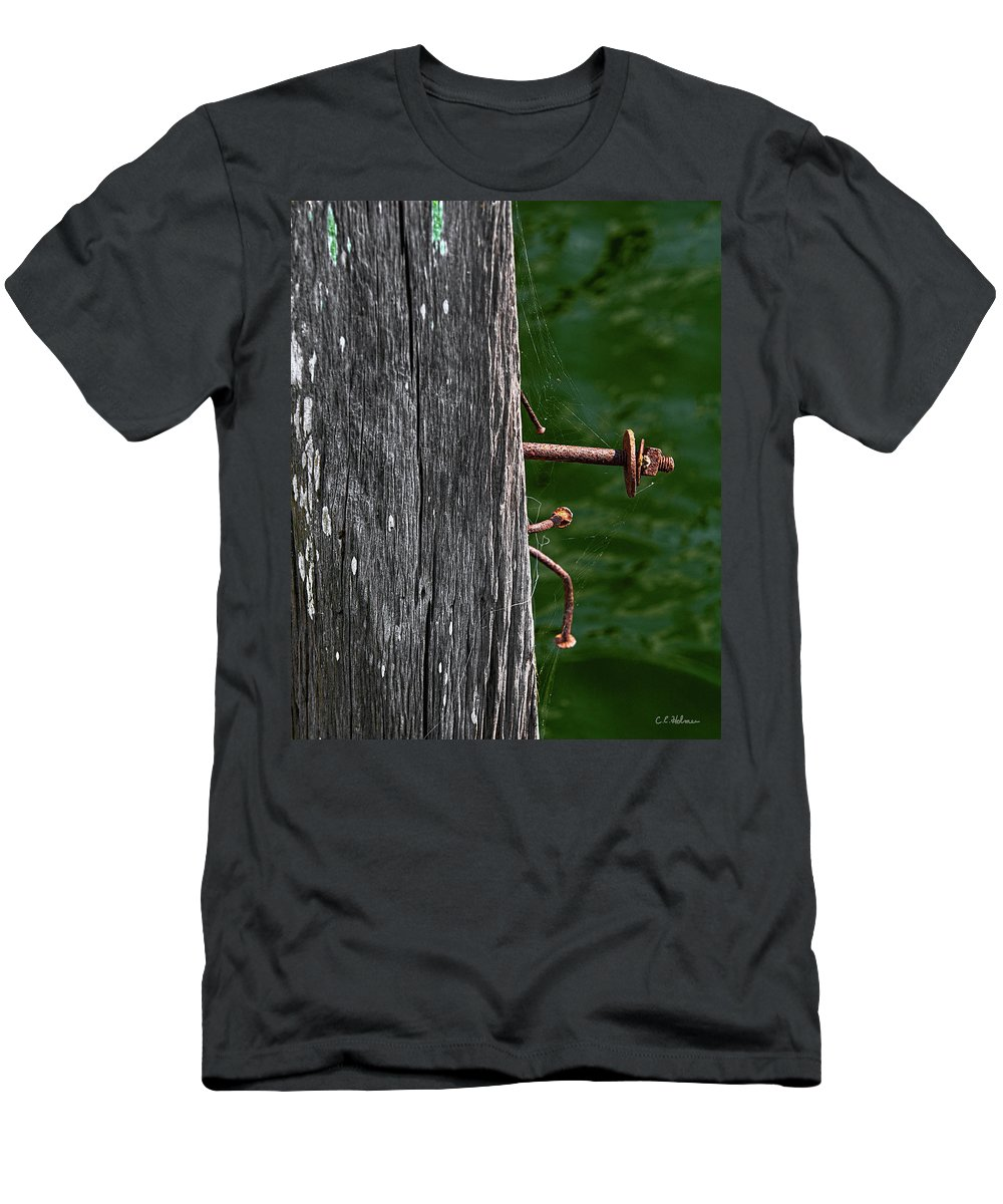 Bolt Men's T-Shirt (Athletic Fit) featuring the photograph Rusted by Christopher Holmes