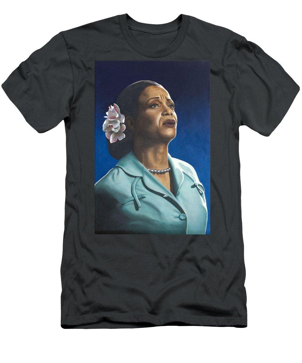Portrait Men's T-Shirt (Athletic Fit) featuring the painting Ruth Jacott by Rob De Vries