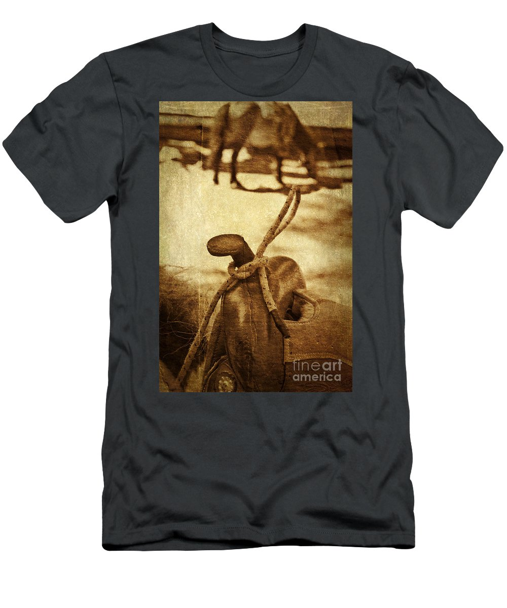 Saddle Men's T-Shirt (Athletic Fit) featuring the photograph Saddle by Silvia Ganora