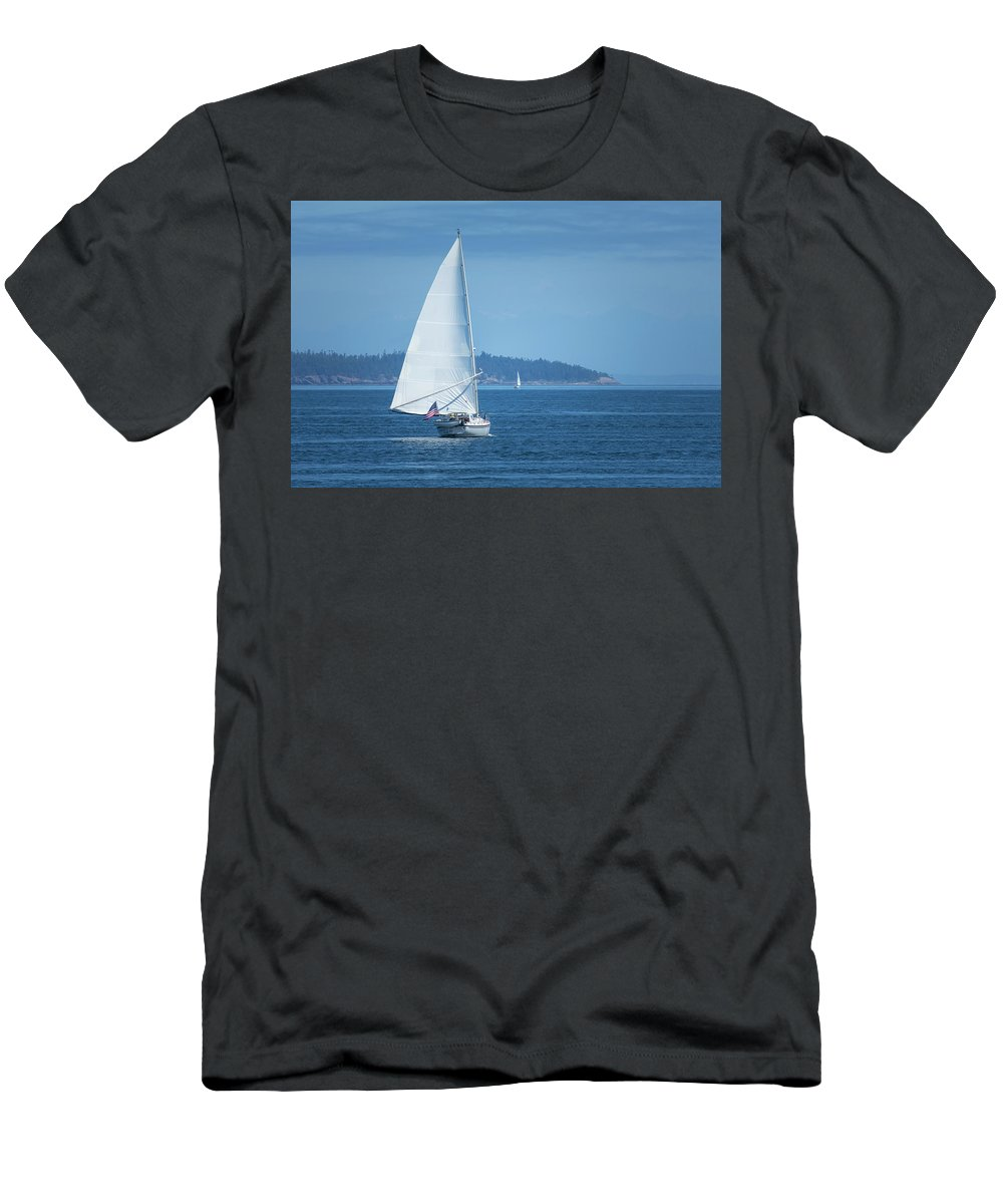 Sailing Men's T-Shirt (Athletic Fit) featuring the photograph Sailing by Bob Stevens