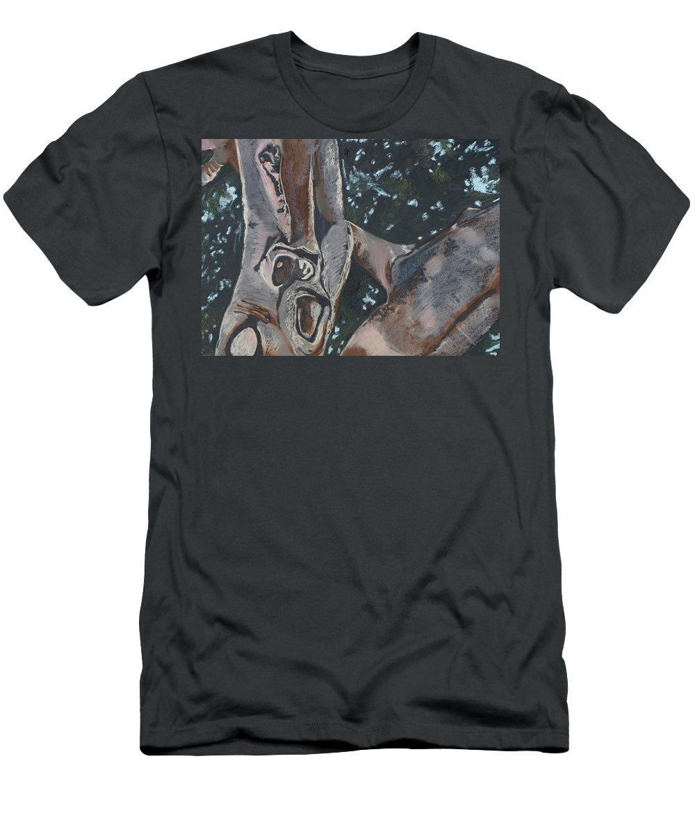 Contemporary Tree Men's T-Shirt (Athletic Fit) featuring the drawing San Diego Zoo by Leah Tomaino