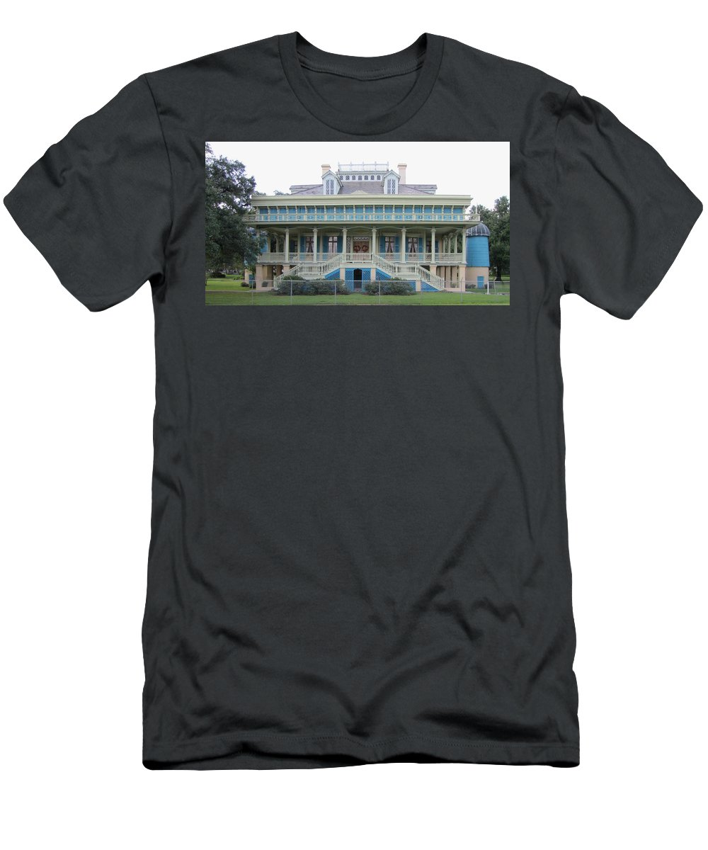 Plantation Home Men's T-Shirt (Athletic Fit) featuring the photograph San Francisco Plantation by Michelle Powell