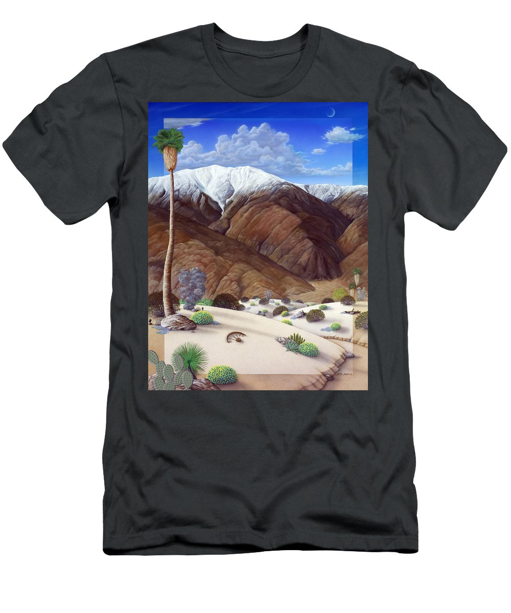 Desert T-Shirt featuring the painting Snow Creek by Snake Jagger