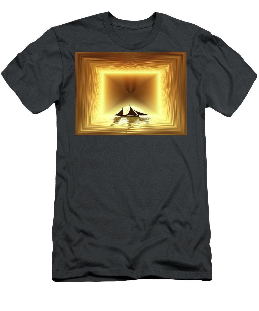 Sail Men's T-Shirt (Athletic Fit) featuring the photograph San Juan Silhouette by Tim Allen