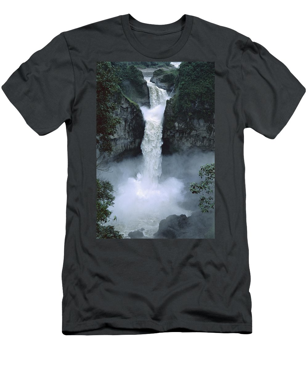 00143065 Men's T-Shirt (Athletic Fit) featuring the photograph San Rafael Falls by Tui De Roy