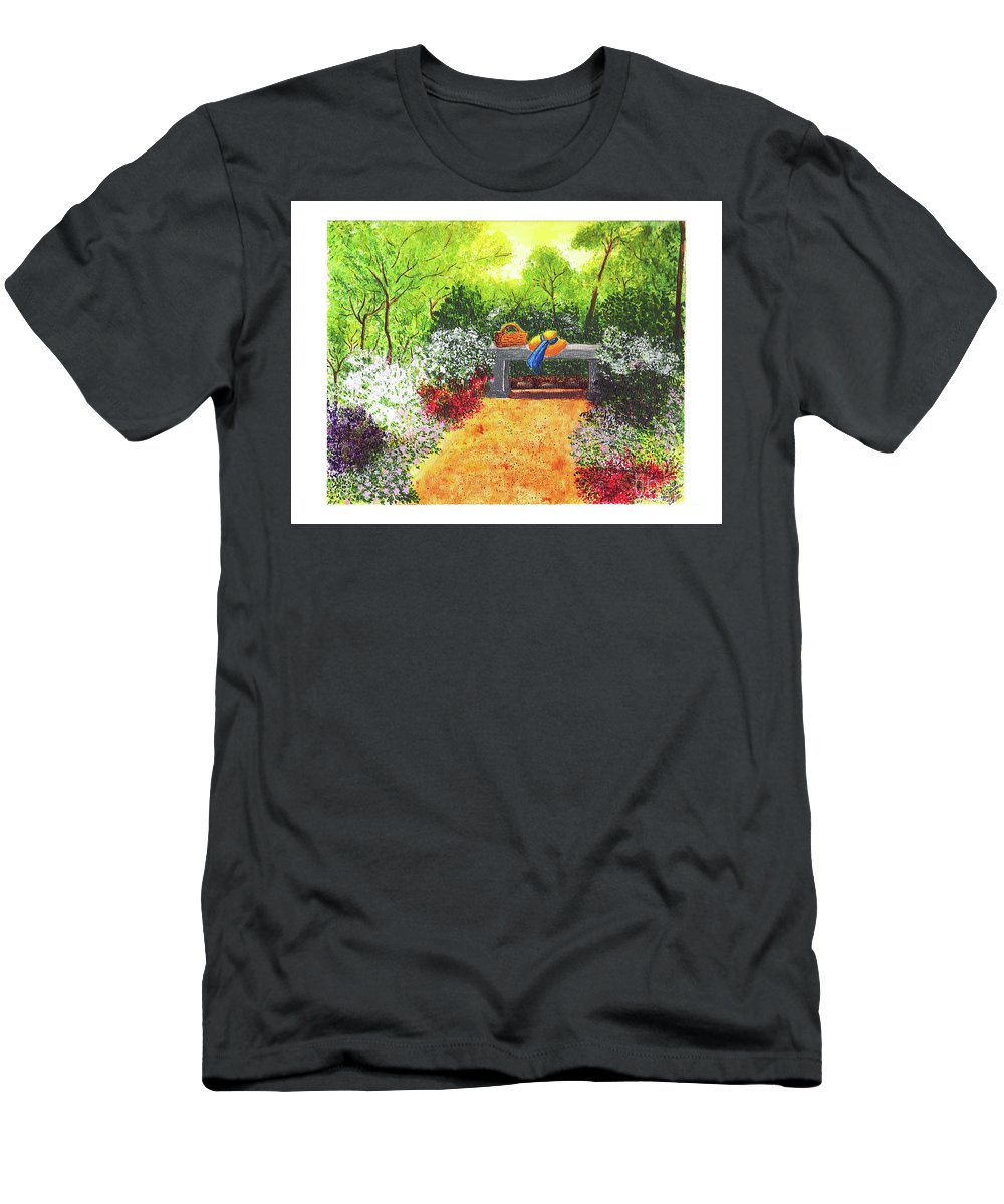 Garden Painting Men's T-Shirt (Athletic Fit) featuring the painting Sanctuary by Patricia Griffin Brett