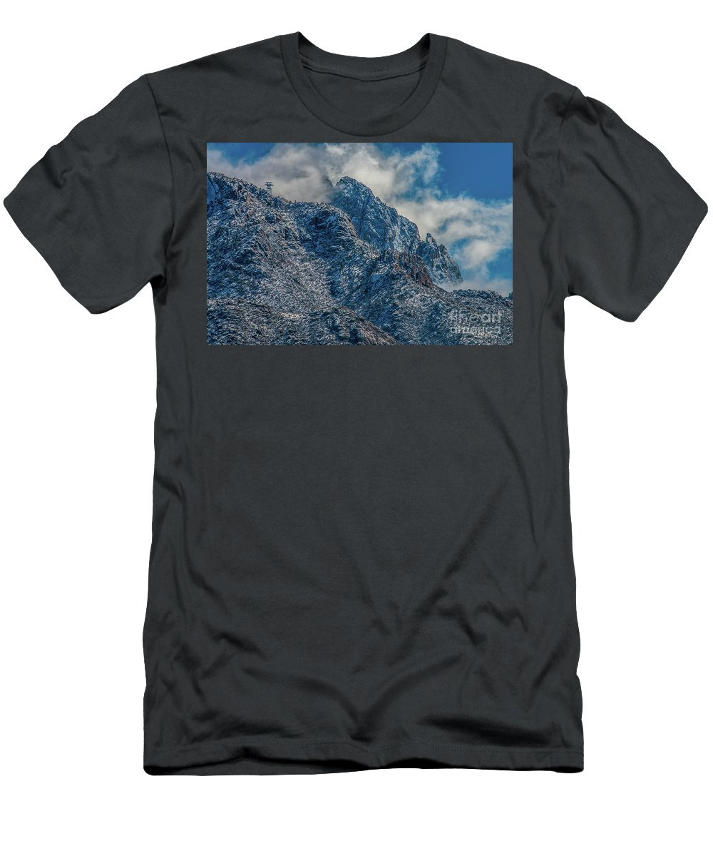 Sandia Mountains Men's T-Shirt (Athletic Fit) featuring the photograph Sandia Mountains 2 by Stephen Whalen