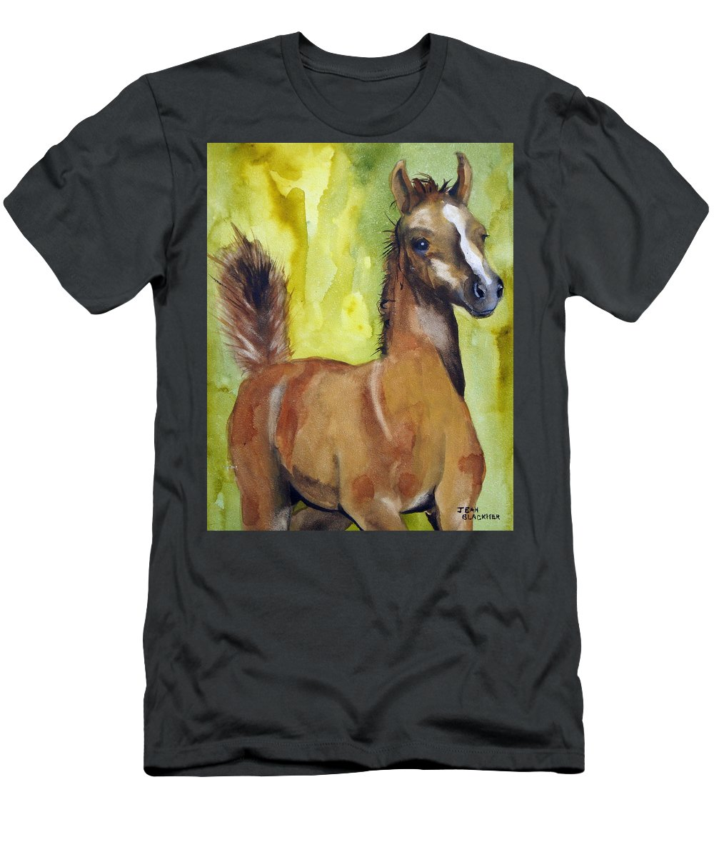 Filly T-Shirt featuring the painting Saucy by Jean Blackmer