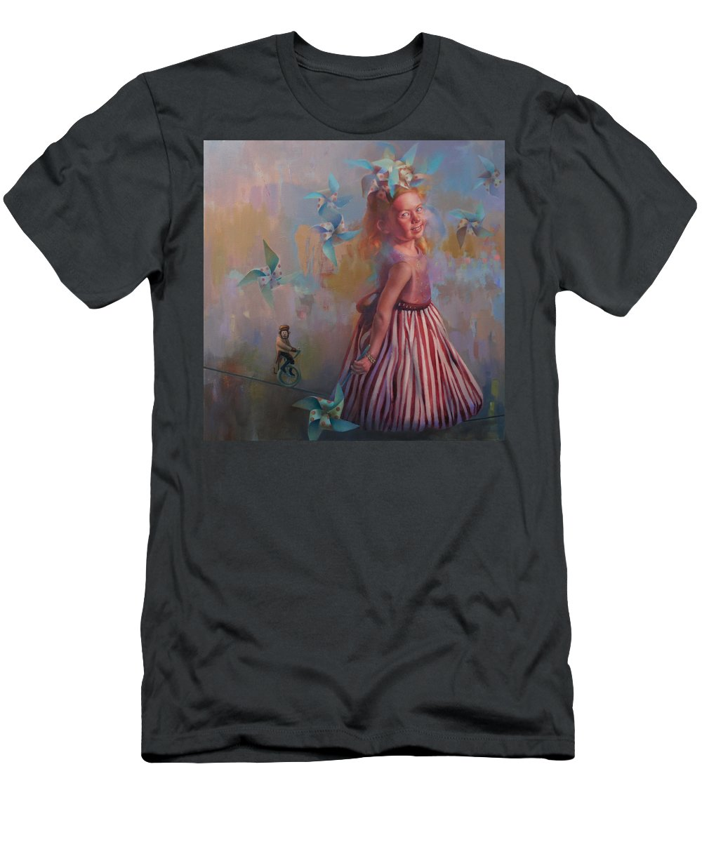Figurative Men's T-Shirt (Athletic Fit) featuring the painting Savanah At Play by Cathy Locke