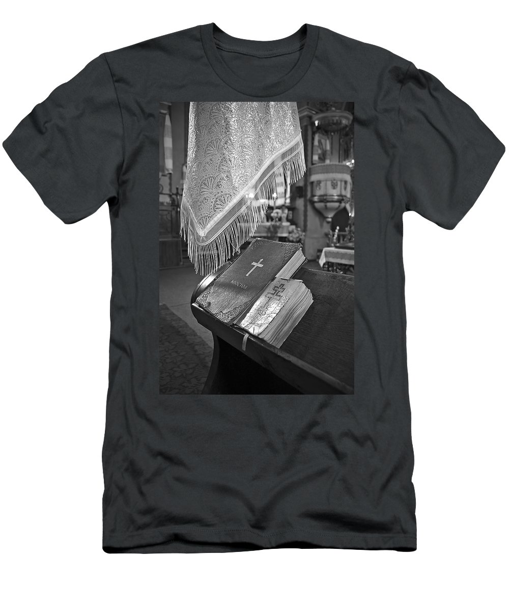 Bible Men's T-Shirt (Athletic Fit) featuring the photograph Say A Little Prayer by Evelina Kremsdorf
