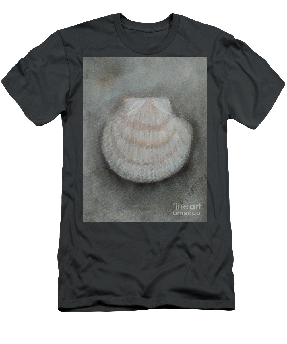 Men's T-Shirt (Athletic Fit) featuring the painting Scallop Shell by Loretta Kessler