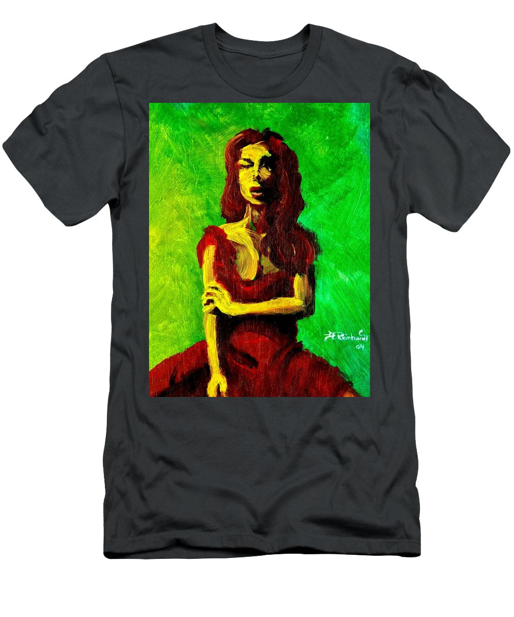 Expressionist Men's T-Shirt (Athletic Fit) featuring the painting Scarlet by Jason Reinhardt