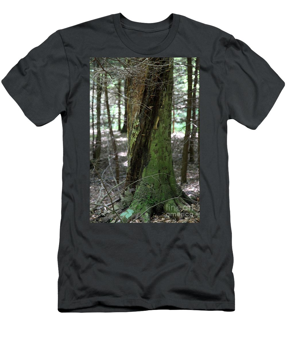 Tree Men's T-Shirt (Athletic Fit) featuring the photograph Scarred by Amanda Barcon