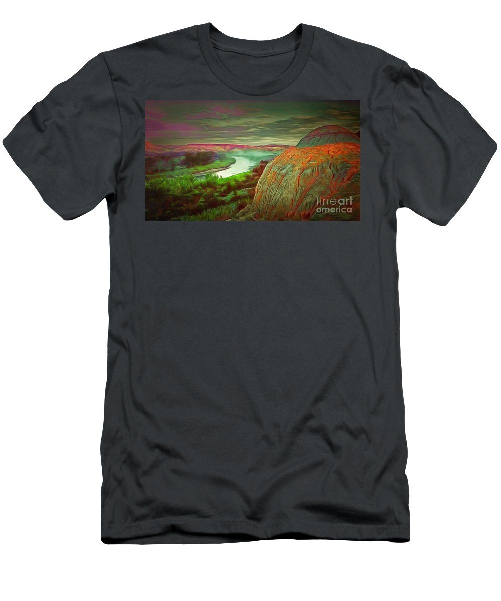 Scene In Ambiance Men's T-Shirt (Athletic Fit) featuring the painting Scene In Ambiance by Catherine Lott