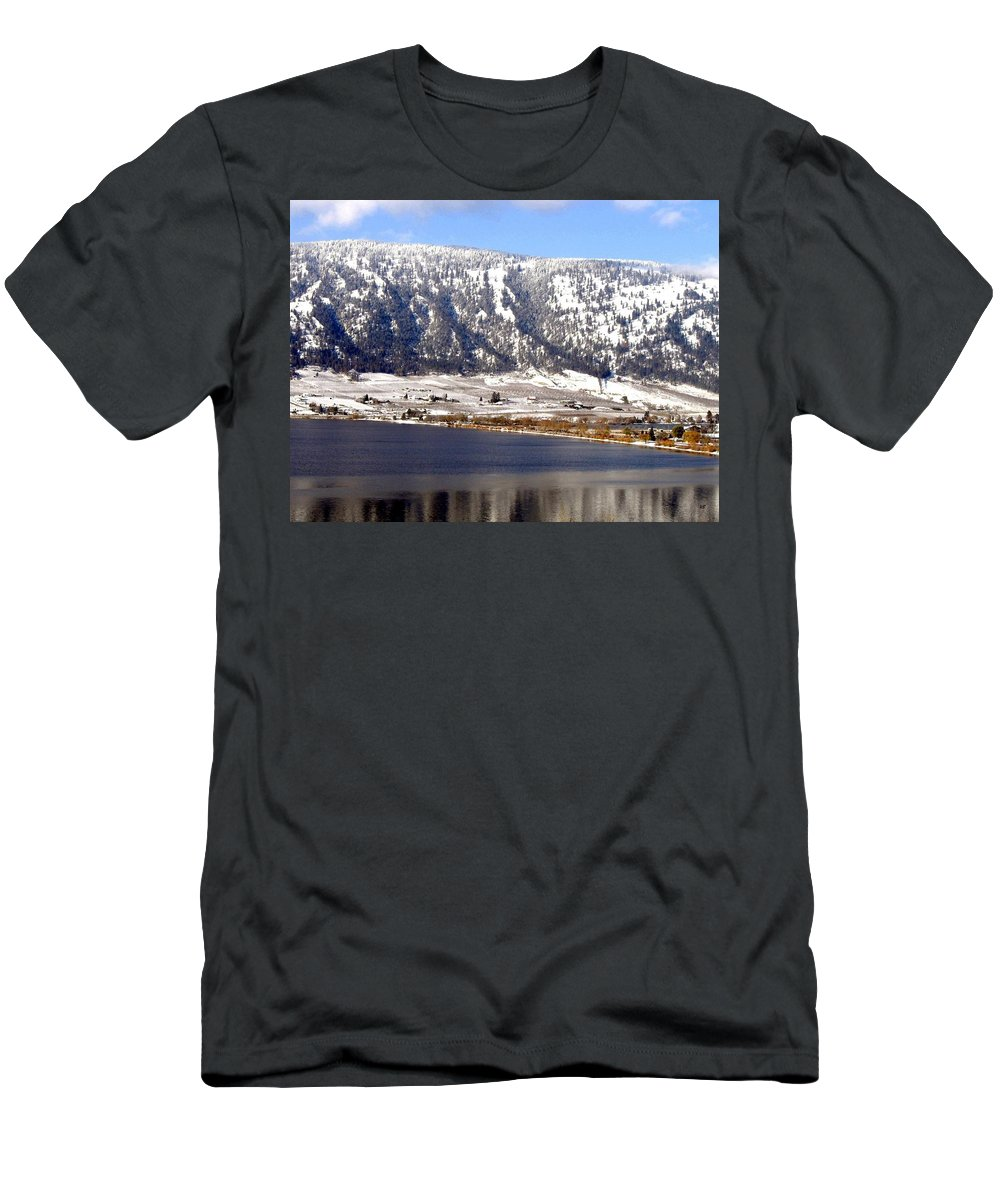 Oyama Men's T-Shirt (Athletic Fit) featuring the photograph Scenic Oyama by Will Borden