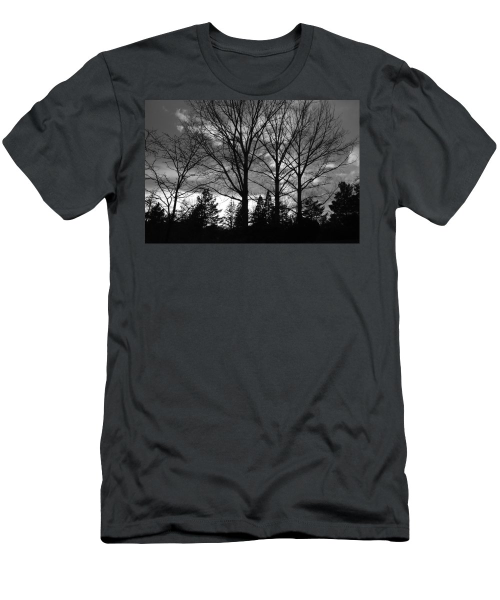 Black And White Men's T-Shirt (Athletic Fit) featuring the photograph Scenic State Capital by Rob Hans