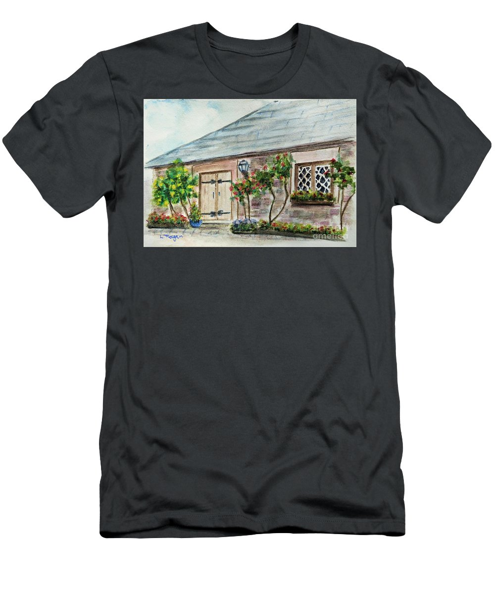 Scotland T-Shirt featuring the painting Scottish Cottage by Laurie Morgan