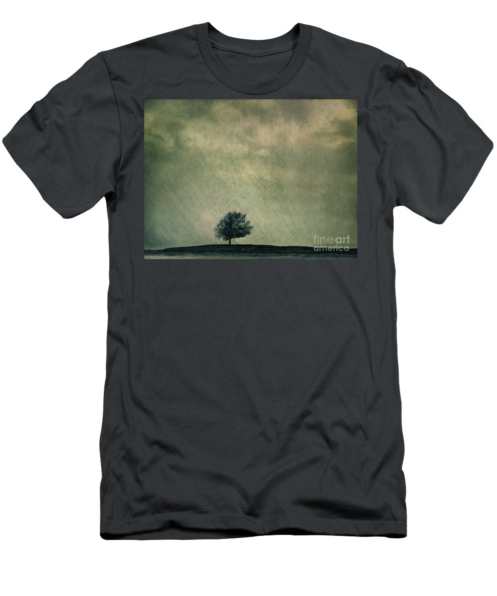 Blue Men's T-Shirt (Athletic Fit) featuring the photograph Screaming At The Top Of My Voice by Dana DiPasquale