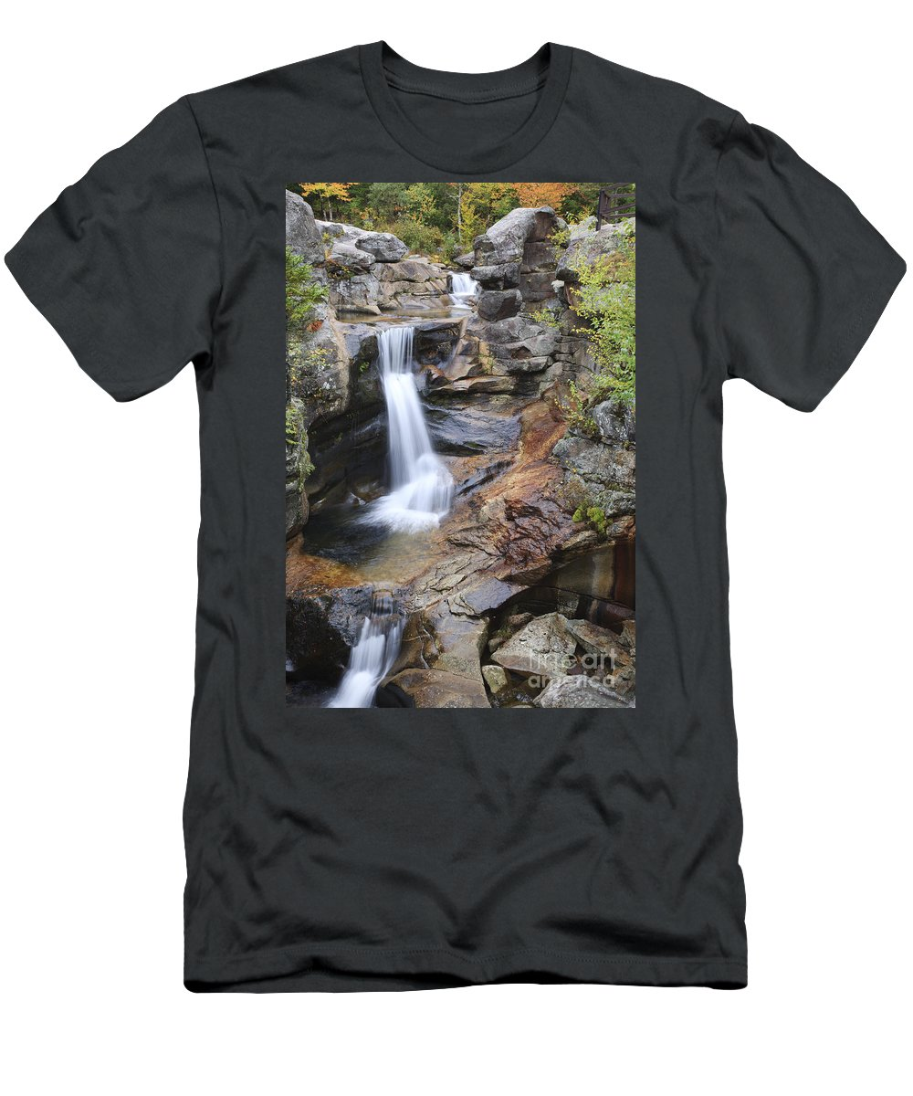 Nature T-Shirt featuring the photograph Screw Auger Falls - Maine by Erin Paul Donovan