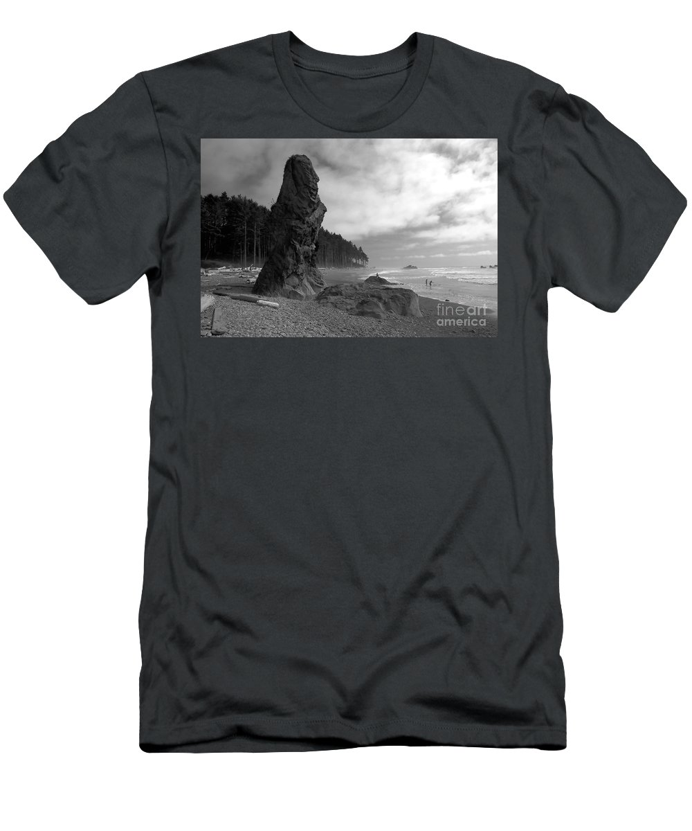 Sea Stack Men's T-Shirt (Athletic Fit) featuring the photograph Sea Stack by David Lee Thompson