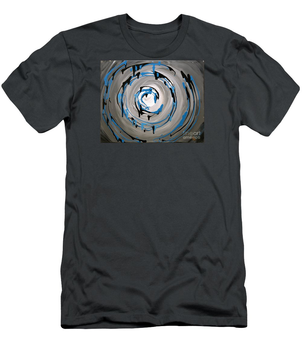 Swirl Men's T-Shirt (Athletic Fit) featuring the painting Sea Swirl by Preethi Mathialagan