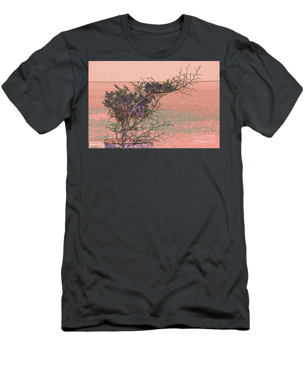 Coast Men's T-Shirt (Athletic Fit) featuring the photograph Sea View by Adriana Zoon