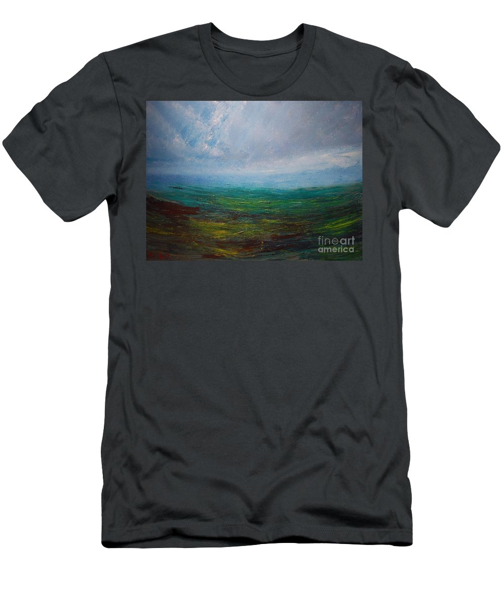 Men's T-Shirt (Athletic Fit) featuring the painting Seascape by Mark Kazav