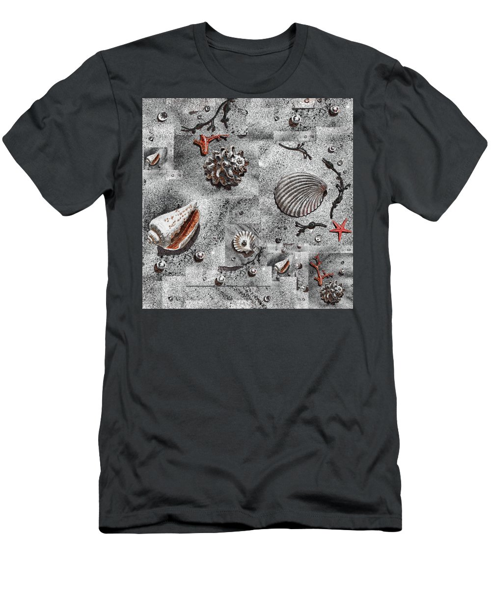 Png Men's T-Shirt (Athletic Fit) featuring the painting Seashells Collage Of Any Color by Irina Sztukowski