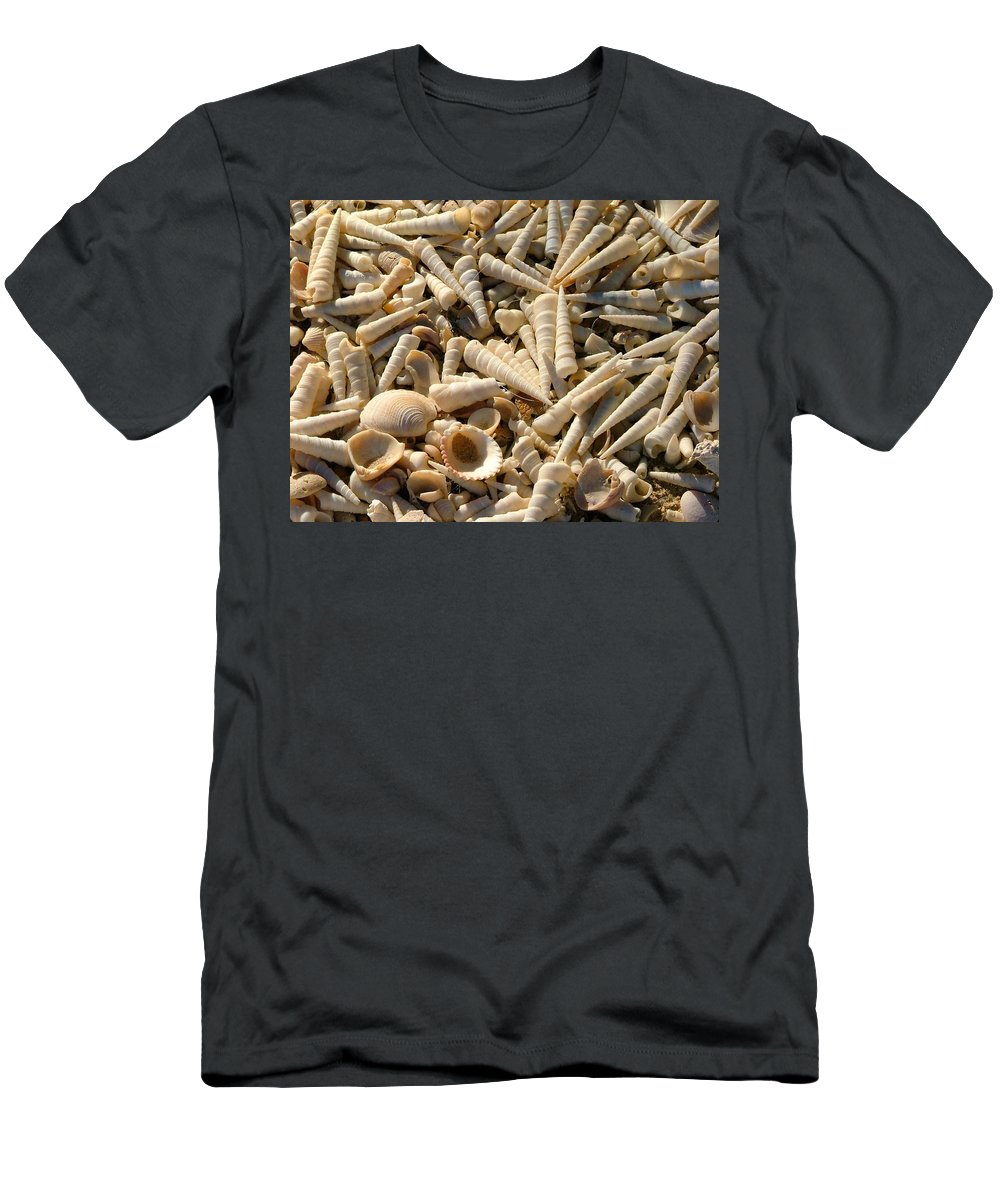 Shells Men's T-Shirt (Athletic Fit) featuring the photograph Seashells by James BO Insogna