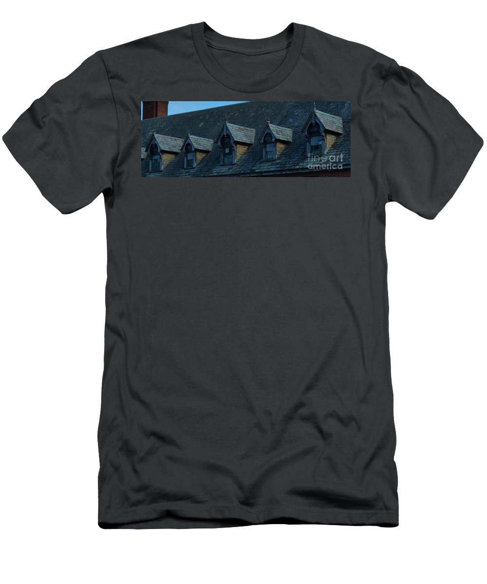Abandoned Hospital Men's T-Shirt (Athletic Fit) featuring the photograph Seaside 2 by Virginia Levasseur